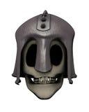 Cráneo en casco Foto de archivo
