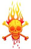Cráneo en llamas Imágenes de archivo libres de regalías