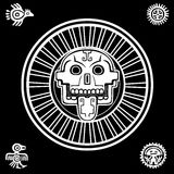 Cráneo estilizado Dios pagano de la muerte Imagenes de archivo