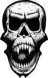 Cráneo gritador asustadizo Foto de archivo libre de regalías
