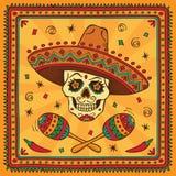 Cráneo mexicano del azúcar Fotografía de archivo libre de regalías