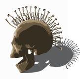 Cráneo punky - vector en blanco Fotos de archivo