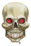 Cráneo rojo del ojo Foto de archivo libre de regalías