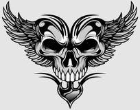 Cráneo y alas Fotografía de archivo libre de regalías