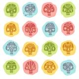 Cráneos fijados Fotos de archivo libres de regalías