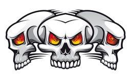 Cráneos malvados Imagen de archivo libre de regalías