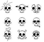 Crânes de dommages Photos libres de droits