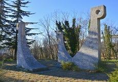 Crni Kal Spomenik Royaltyfria Foton