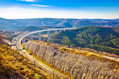 Crni Kal viaduct in Slovenia Stock Images