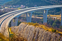 Crni Kal viaduct in Slovenia view Royalty Free Stock Image