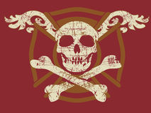 Crânio de Grunge Imagens de Stock