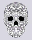 Crânio no projeto original dos monogramas diferentes Fotos de Stock Royalty Free