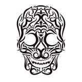 Crânio tribal da tatuagem Elemento do projeto do vetor Fotos de Stock Royalty Free