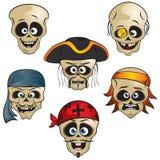 Crânios dos piratas Foto de Stock