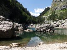 Crno Jezero (Black lake). This picture was taken in Black lake (Crno Jezero) , Slovenia Royalty Free Stock Images