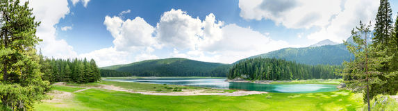 Crno Jezero, Montenegro. Beautiful view of Crno Jezero lake, Montenegro. Beautiful summer day Royalty Free Stock Photos