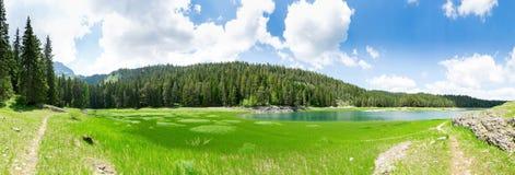 Crno Jezero, Montenegro. Panoramic view of Crno Jezero lake, Montenegro Royalty Free Stock Photography