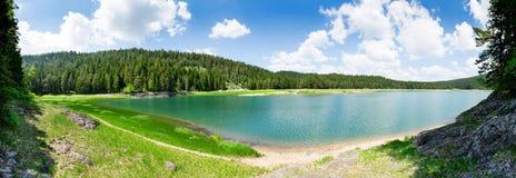 Crno Jezero, Montenegro. Panoramic view of Crno Jezero lake, Durmitor National Park, Montenegro Royalty Free Stock Photos