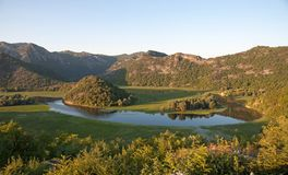 Crnojevica River into Lake Skadar National Park, Montenegro Royalty Free Stock Image