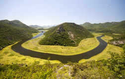 Crnojevica River in Montenegro stock image