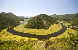 Crnojevicarivier in Montenegro stock afbeelding