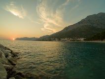 A Croácia costeia e montanhas fotografia de stock