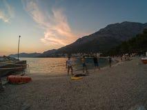 A Croácia costeia e montanhas imagens de stock royalty free