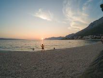 A Croácia costeia e montanhas fotos de stock