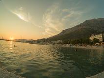 A Croácia costeia e montanhas imagem de stock royalty free