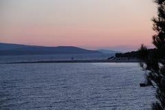 Croácia, curso a Brac, ano 2013 Imagem de Stock Royalty Free