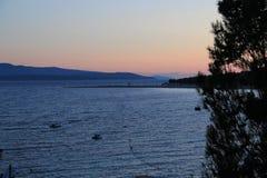 Croácia, curso a Brac, ano 2013 Fotos de Stock Royalty Free