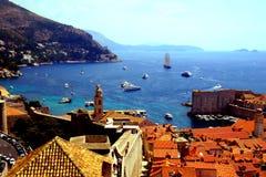Croácia da baía do mar de Dubrovnik Fotos de Stock