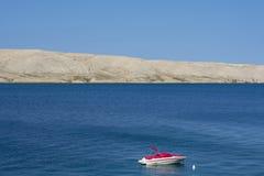 Croácia da costa da ilha do Pag fotografia de stock