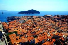 Croácia da ilha de Dubrovnik e de Lokrum Imagem de Stock