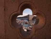 Croácia de Dubrovnik do porto de Gruz Fotos de Stock