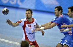 Croácia 2016 do Polônia do EURO do EHF Foto de Stock Royalty Free
