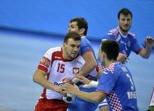 Croácia 2016 do Polônia do EURO do EHF Imagem de Stock