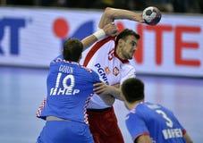 Croácia 2016 do Polônia do EURO do EHF Foto de Stock