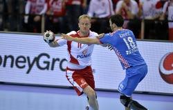 Croácia 2016 do Polônia do EURO do EHF Fotografia de Stock