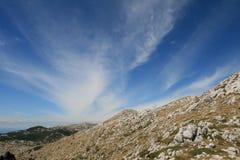 Croácia/Idyl/região selvagem nas montanhas fotografia de stock royalty free