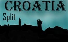 A Croácia rachou memórias ilustração stock