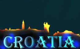A Croácia rachou memórias ilustração royalty free