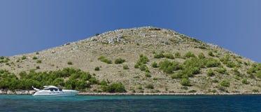 Croácia remota do cruzeiro da ilha Imagens de Stock