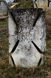 CRO (coordinadora) de piedra maltesas en cementerio cosaco ucraniano antiguo del ` s, odas Imagenes de archivo