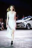 Cro en Porter Fashion Show: An-Estetik Zagreb, Kroatien royaltyfri fotografi