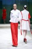 Cro furtianu pokaz mody: BLIŹNIACY Begovic ja Stimac, Zagreb, C Obraz Stock