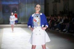 Cro furtianu pokaz mody: BLIŹNIACY Begovic ja Stimac, Zagreb, C Obrazy Royalty Free