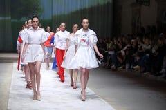 Cro furtianu pokaz mody: BLIŹNIACY Begovic ja Stimac, Zagreb, C Zdjęcie Royalty Free