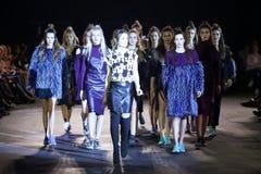 Cro a Porter Fashion Show : Marina Jerant, Zagreb, Croatia. ZAGREB, CROATIA - APRIL 5, 2016 : Fashion model wearing clothes designed by Lukabu by Marina Jerant Stock Image