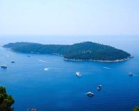 Croacia, isla de Lokrum Imagen de archivo libre de regalías